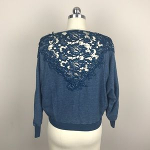 Anthro Meadow Rue Bria Lace Back Cowl Top …